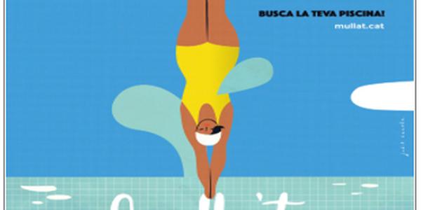 A les piscines municipals Mulla't per l'esclerosi múltiple
