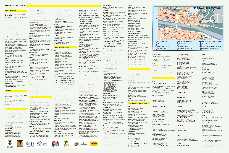Guia Serveis Turístics de la Noguera (classificats per servei)